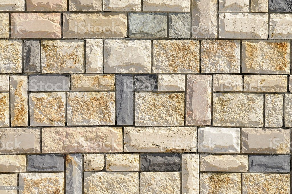 Grunge Stone Tiles Wall Texture Background Pattern royalty-free stock photo