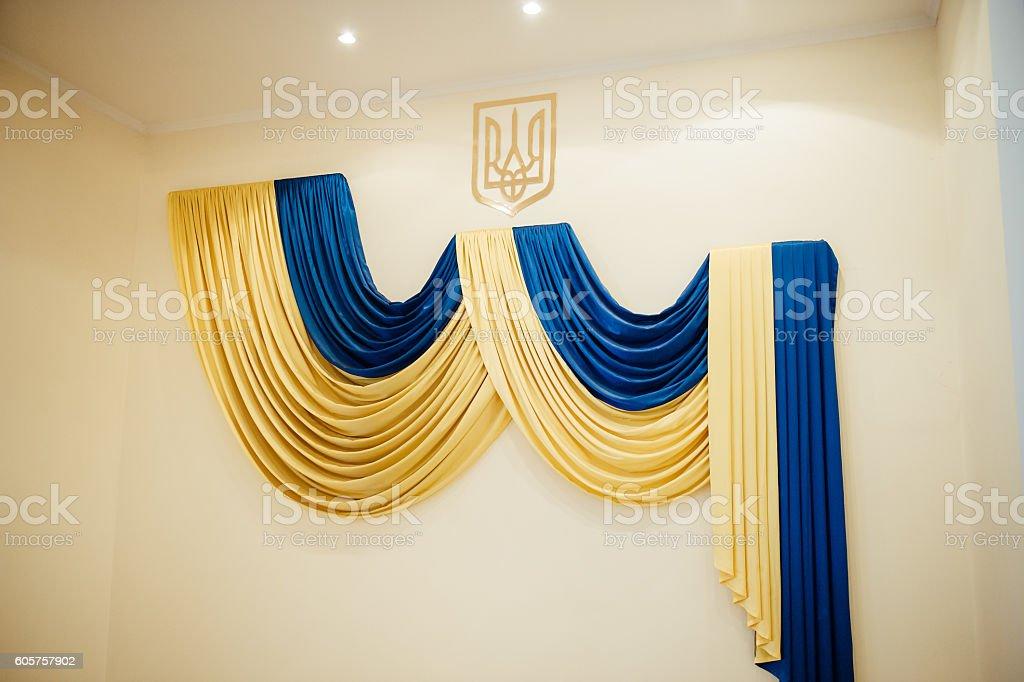 Grunge style of Ukraine flag stock photo