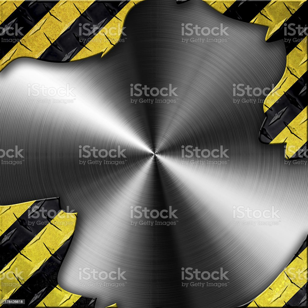 Grunge style under construction background royalty-free stock photo