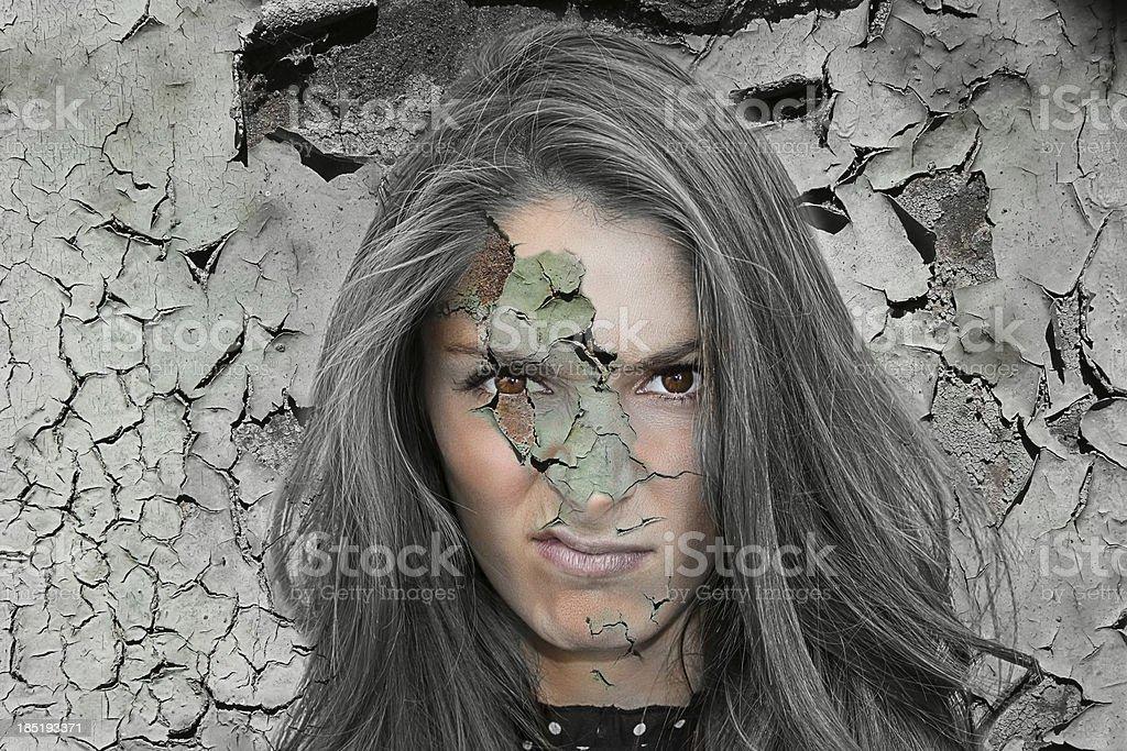 grunge style woman background royalty-free stock photo