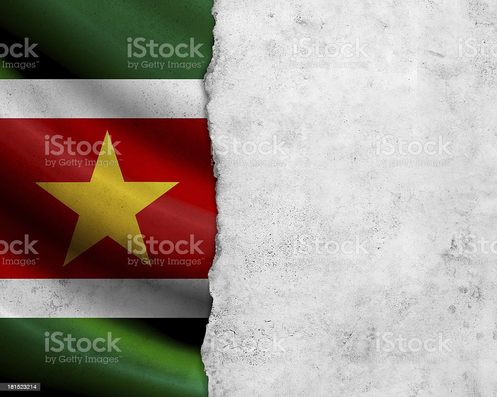 Grunge Surinam flag stock photo