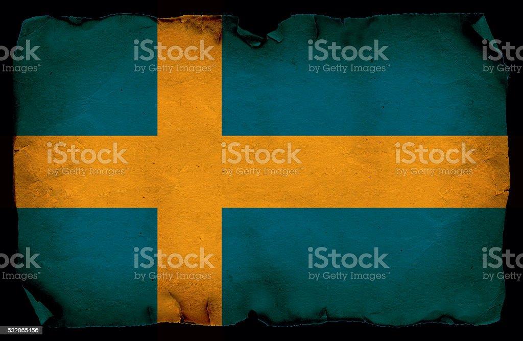 Grunge Sweden flag stock photo