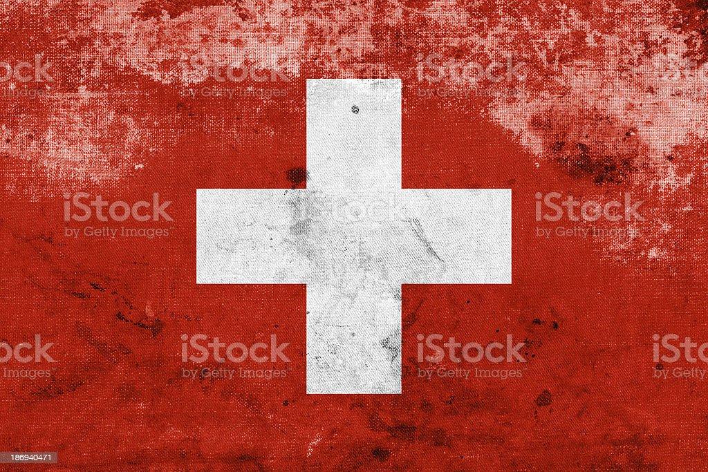 Grunge Switzerland Flag royalty-free stock photo