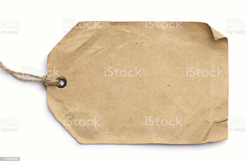 grunge tag on white background stock photo