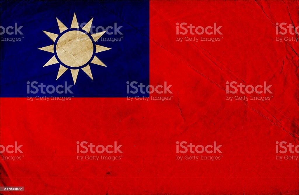 Grunge Taiwan flag stock photo