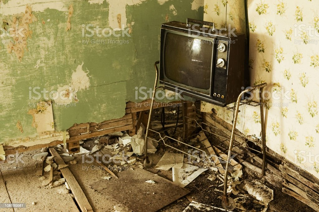 Grunge Television royalty-free stock photo