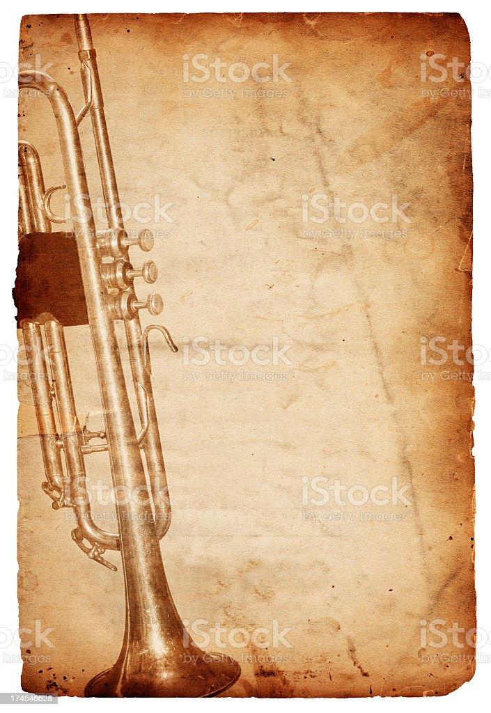 Grunge Trumpet Paper XXXL royalty-free stock photo