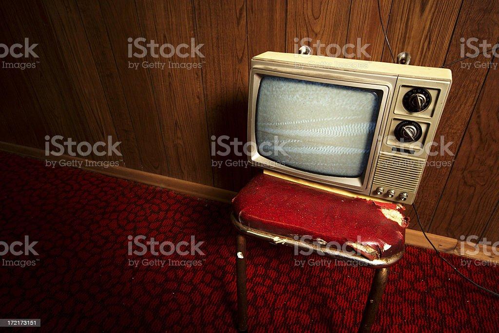 Grunge TV royalty-free stock photo