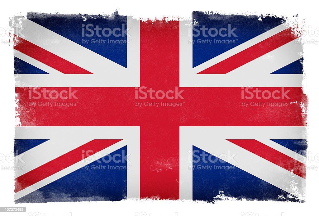 Grunge UK Flag royalty-free stock photo