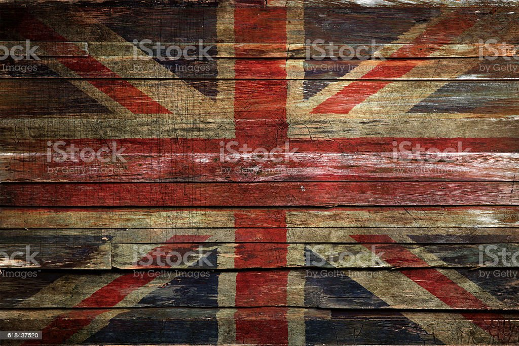 Grunge UK Flag stock photo