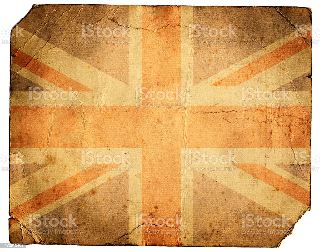 Grunge Union Jack royalty-free stock photo