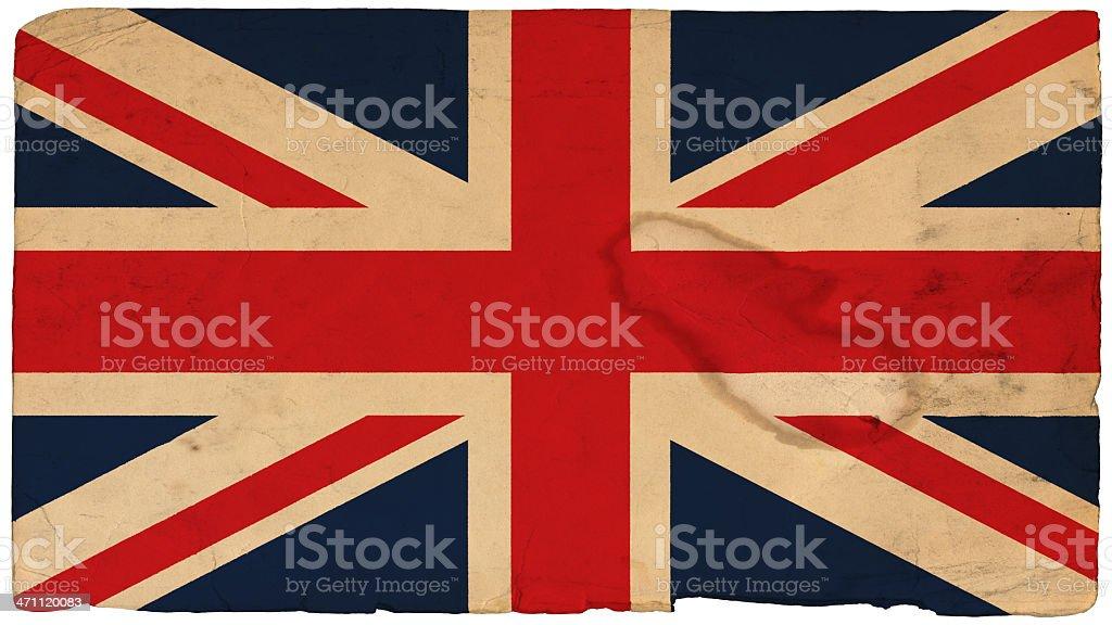 Grunge Union Jack stock photo