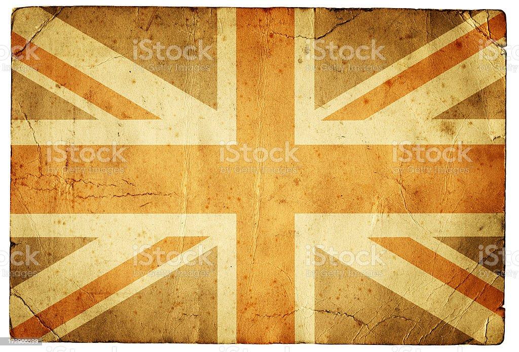 Grunge Union Jack XXXL royalty-free stock photo