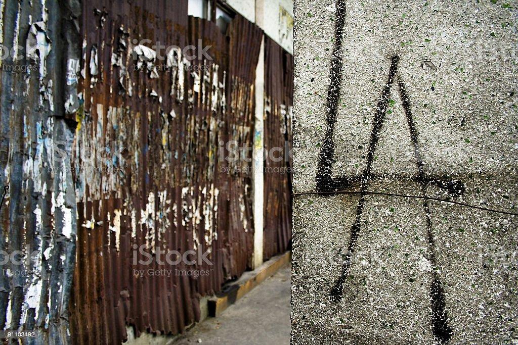 L A grunge urban walls royalty-free stock photo