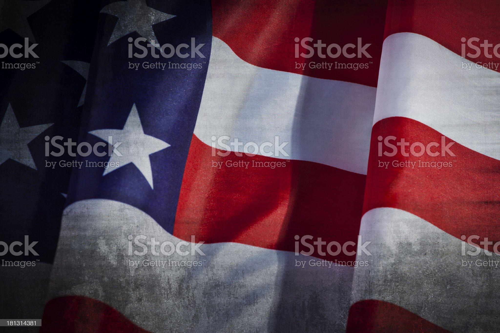 Grunge USA Flag royalty-free stock photo
