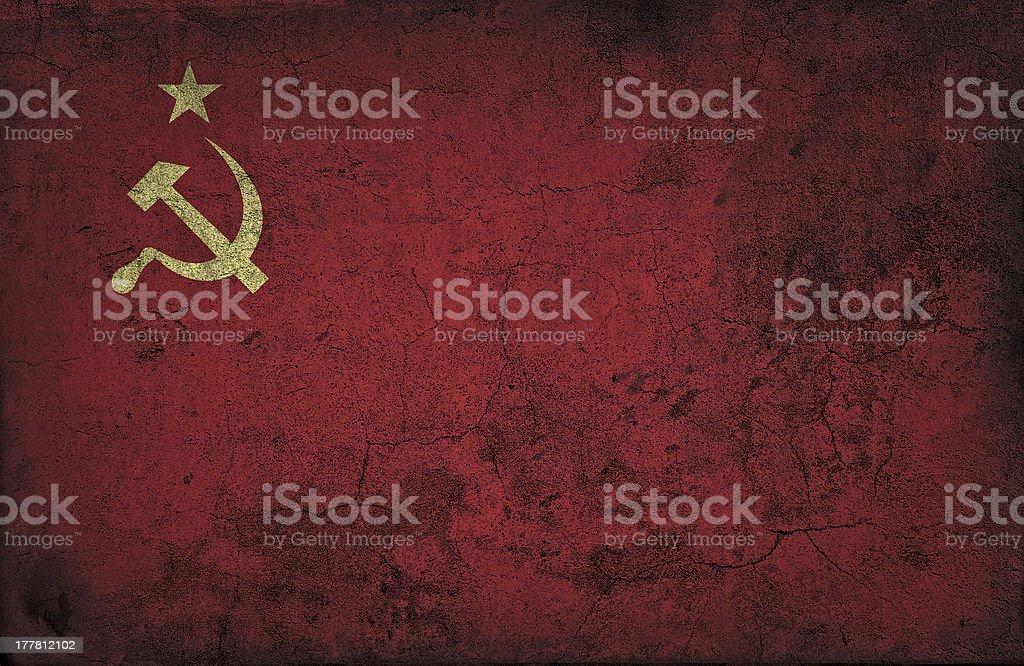 grunge USSR flag stock photo