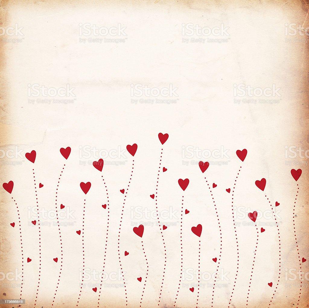 Grunge Valentine Paper XXXL stock photo