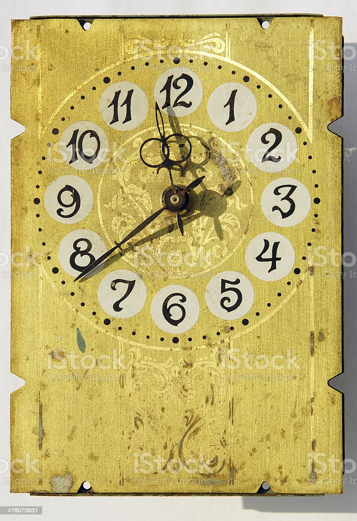 grunge vintage clock-face stock photo