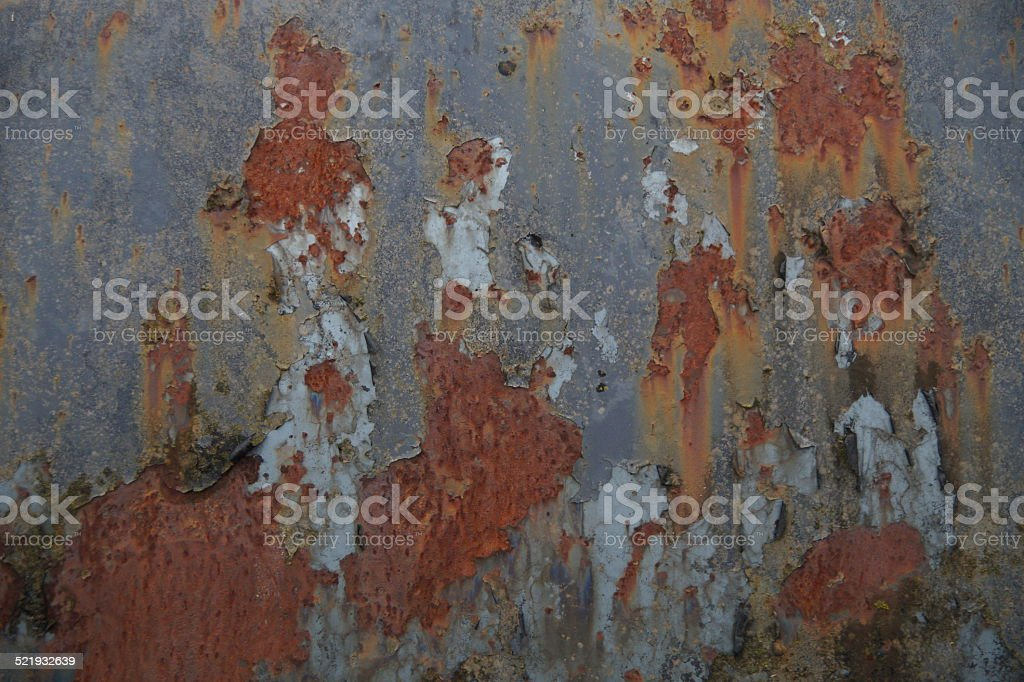 Grunge Vintage Metal Rusty Texture - Stained Background stock photo