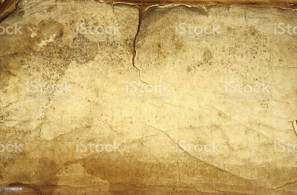 Closeup of old grunge paper background texture.