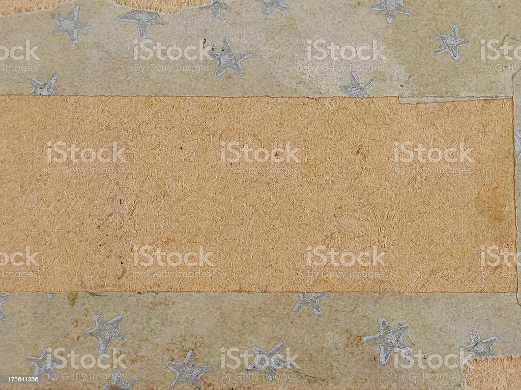 Grunge Vintage Paper with Stars royalty-free stock photo