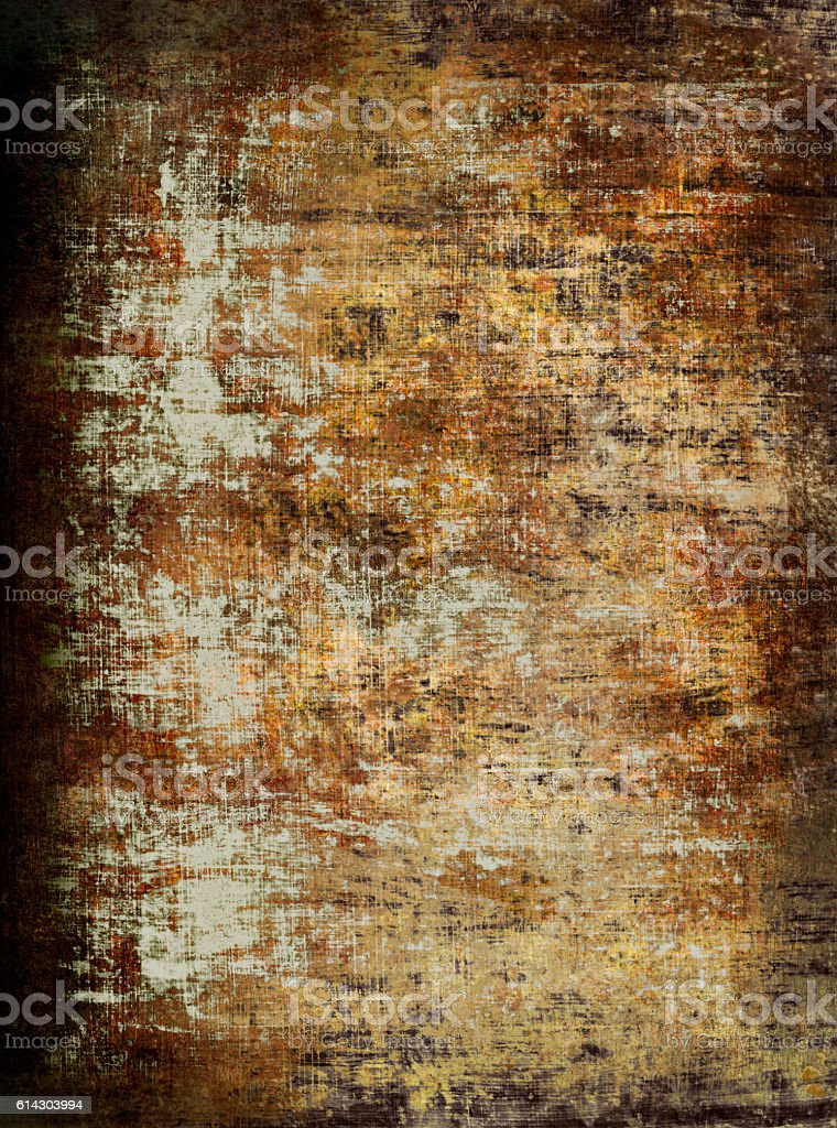 Grunge wall background vector art illustration