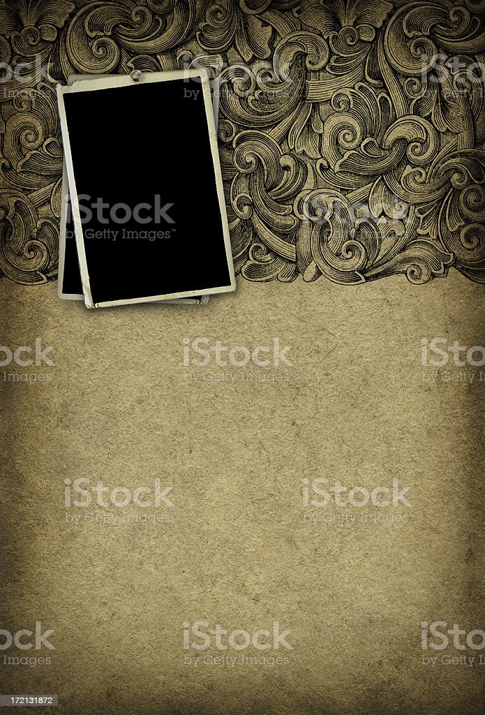 Grunge Wallpaper w/ photo frames royalty-free stock photo