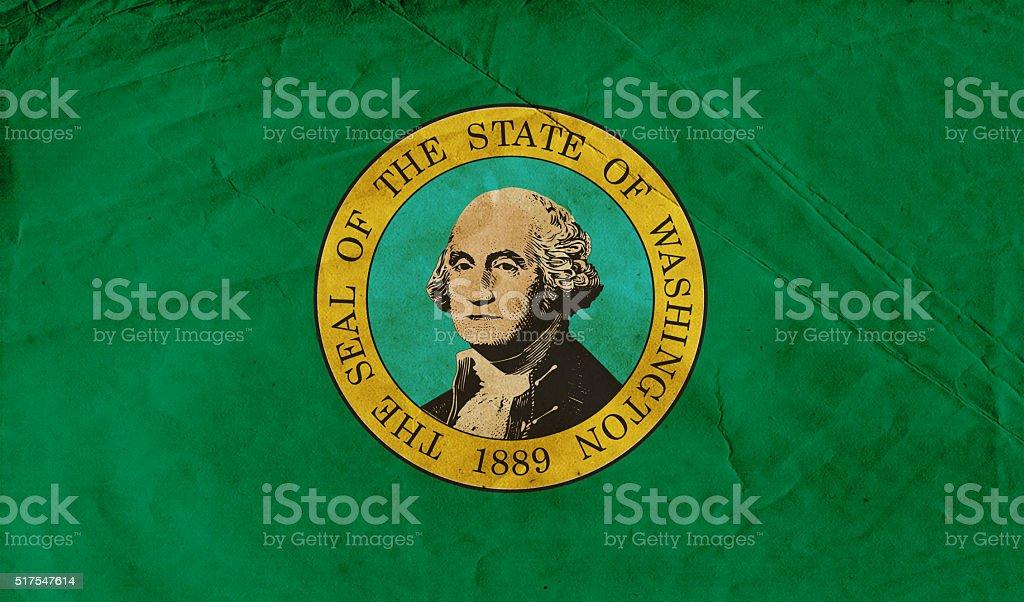 Grunge Washington flag stock photo
