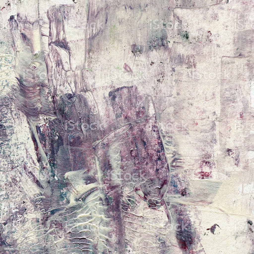 Grunge watercolor acrylic painting. Abstract brown background stock photo