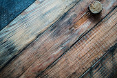Grunge wooden background with a cork.