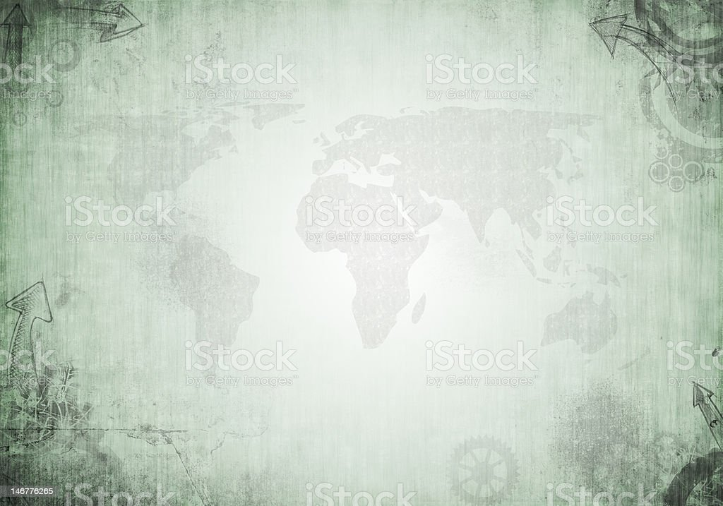 Grunge World Background XXL royalty-free stock vector art