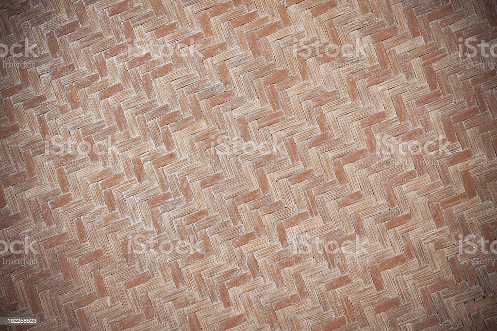 Grunge Woven Bamboo Texture royalty-free stock photo