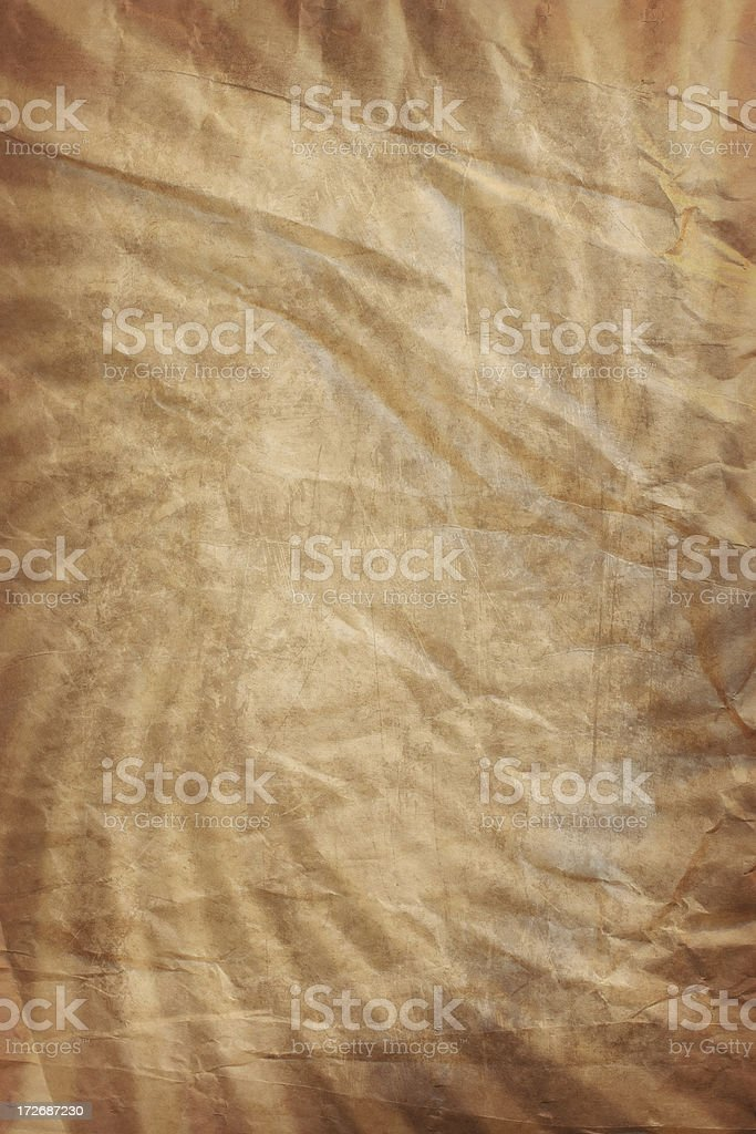grunge wrinkled parchment-swirl background royalty-free stock photo