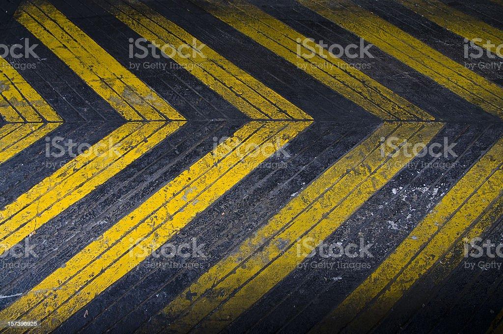 Grungey Driveway Arrows royalty-free stock photo