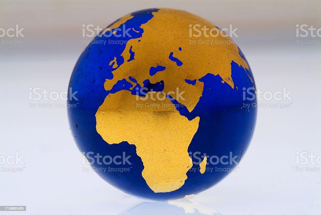 Grungey Globe Africa royalty-free stock photo