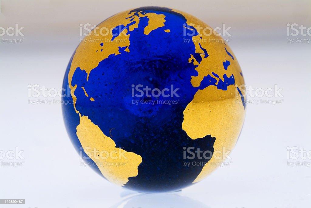 Grungey Globe Atlantic Rim stock photo