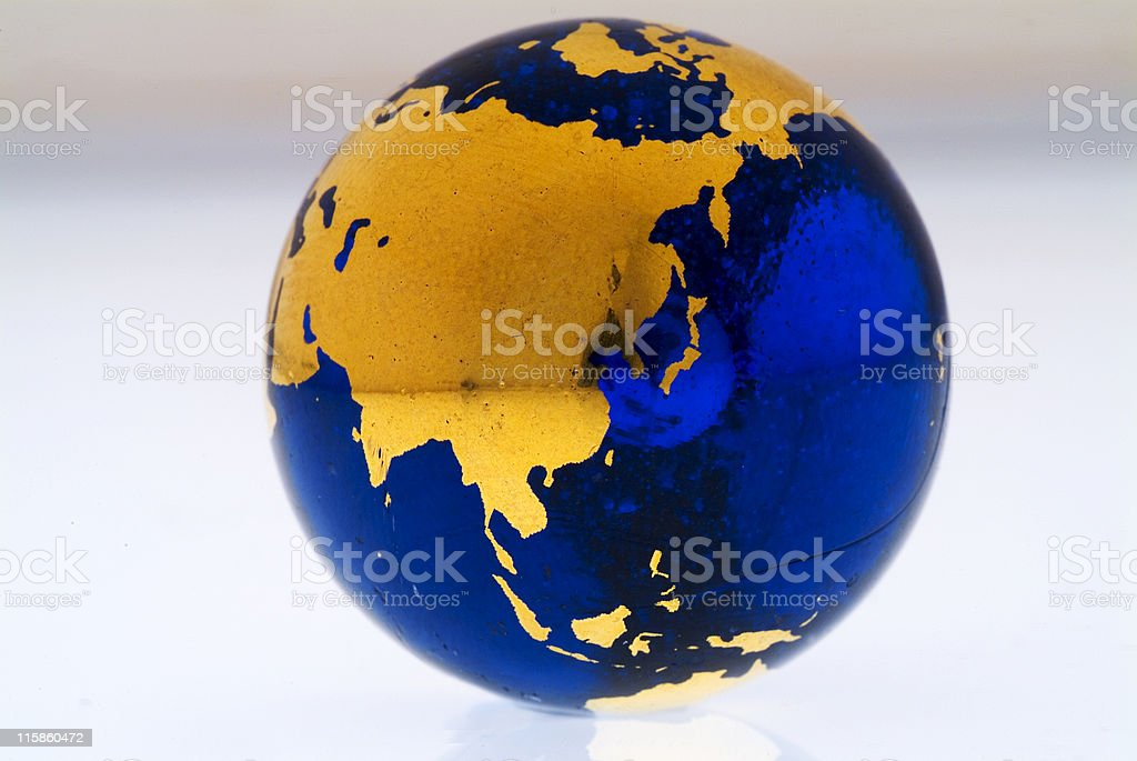 Grungey Globe China royalty-free stock photo