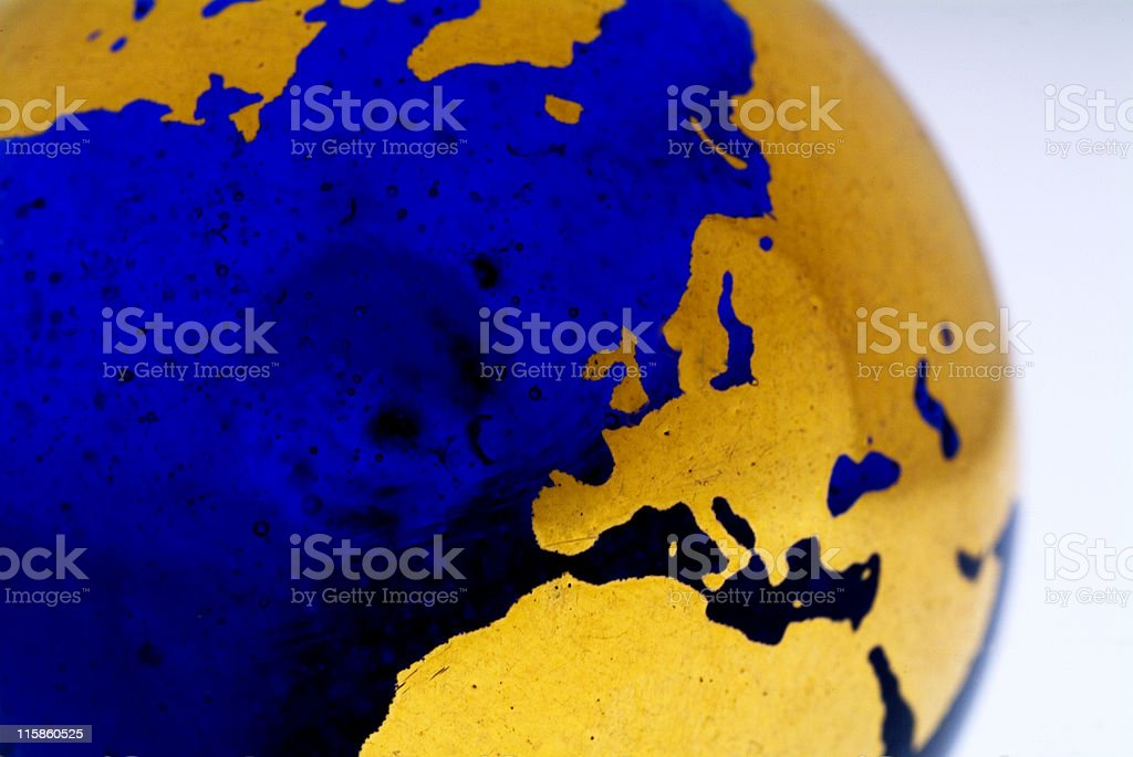 Grungey Globe Detail, Europe 02 royalty-free stock photo