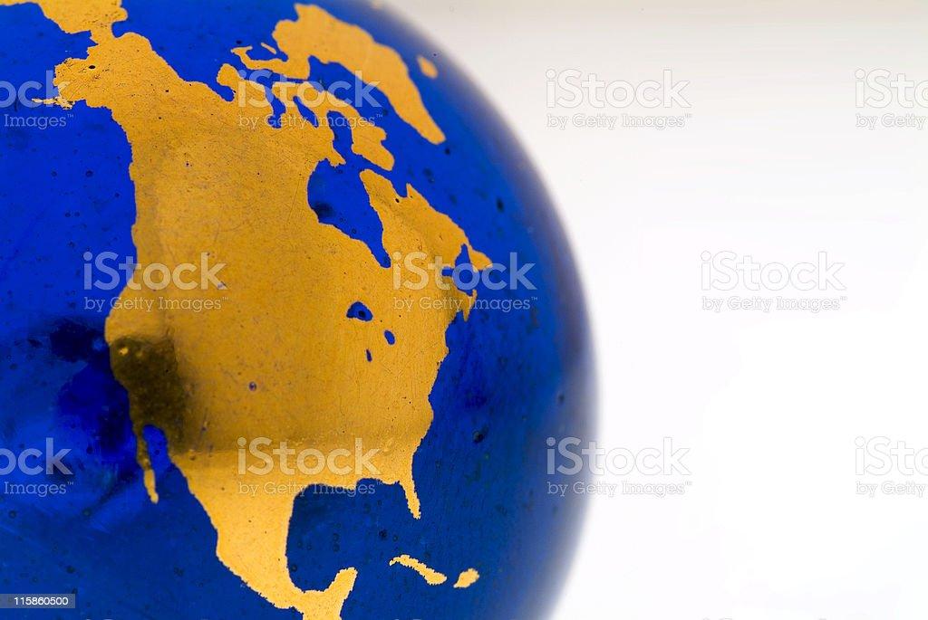 Grungey Globe Detail, North America 01 royalty-free stock photo