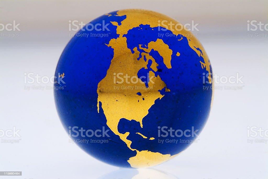 Grungey Globe North America royalty-free stock photo