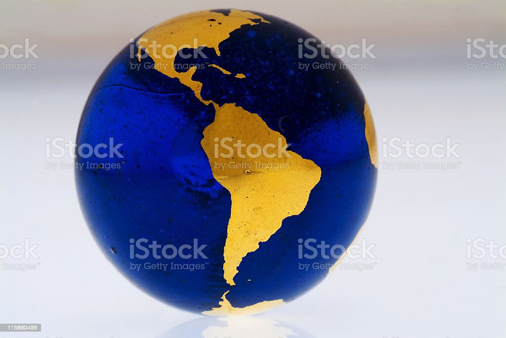 Grungey Globe South America royalty-free stock photo