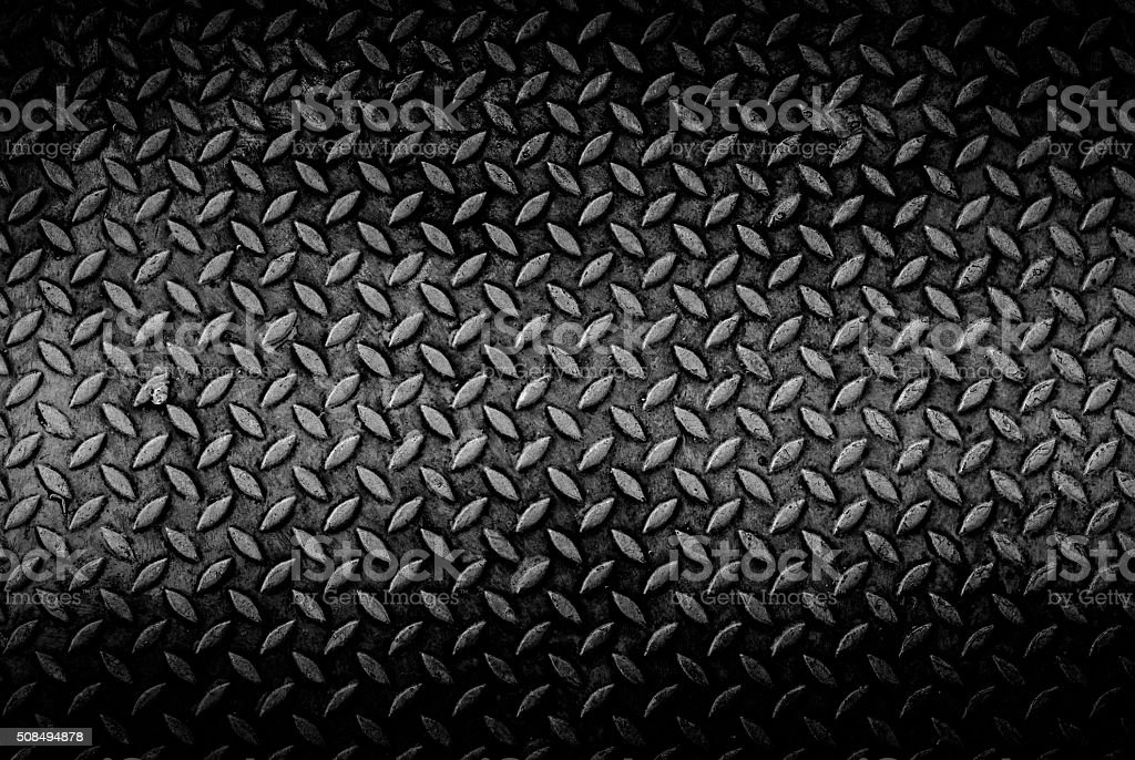 texture background of grungry old weathered metal diamond plate with...