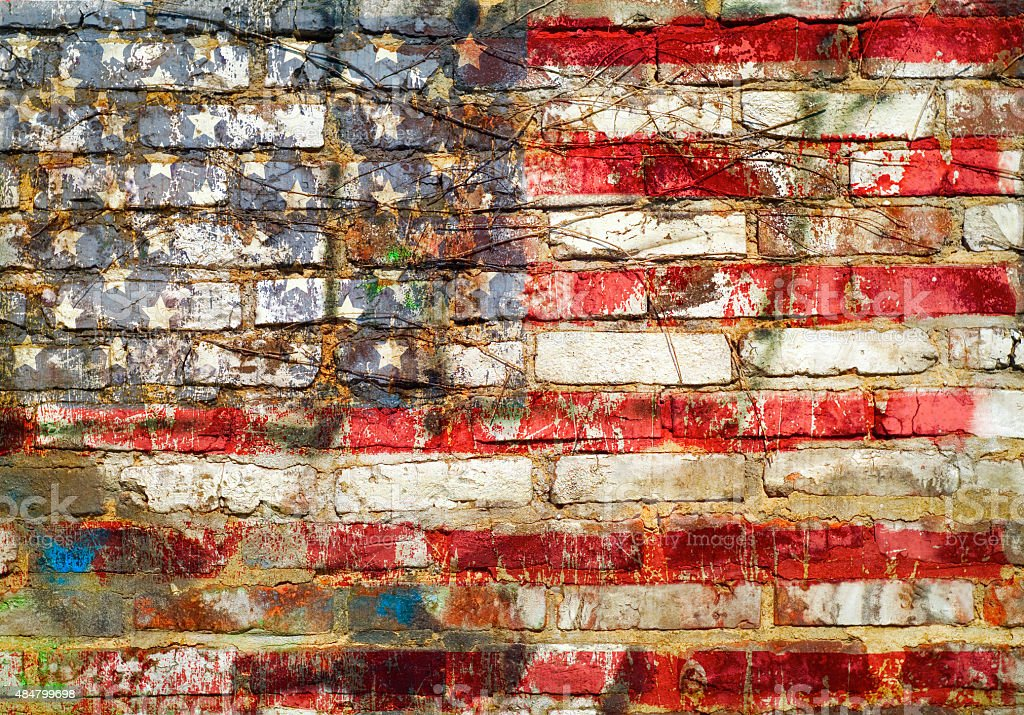 grungy american flag stock photo