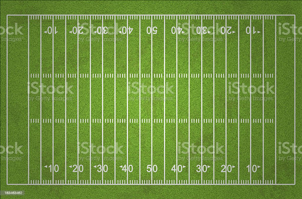 Grungy American Football Field stock photo