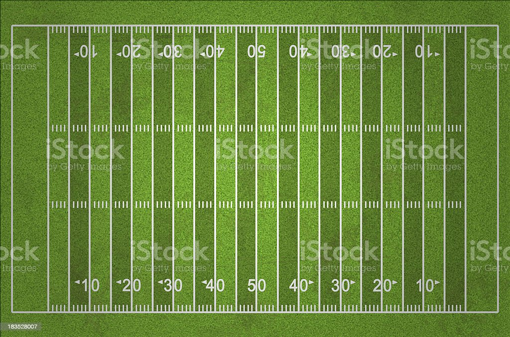 Grungy American Football Field with Dark and Light Grass Lines stock photo