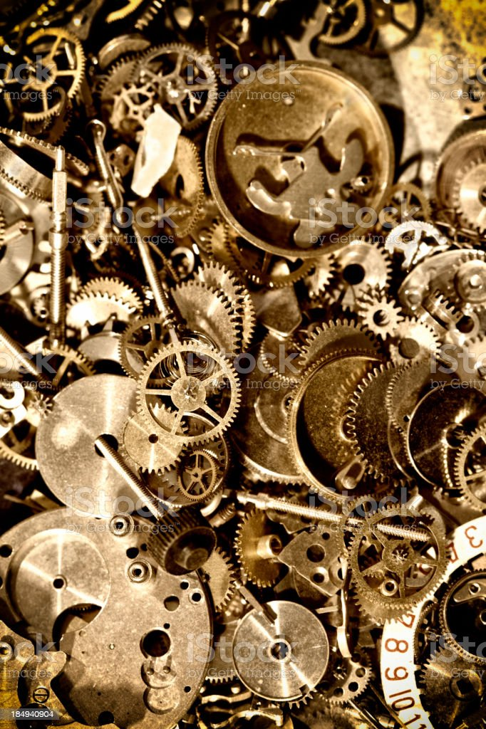 Grungy Antique Clock mechanism royalty-free stock photo