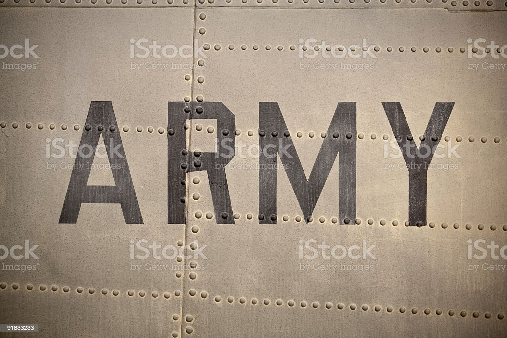 Grungy Army royalty-free stock photo