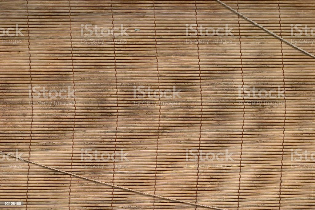 Grungy Bamboo Blind royalty-free stock photo