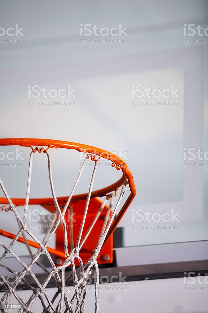 Grungy Basketball Hoop stock photo