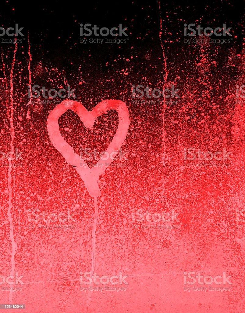 Grungy Bleeding Heart stock photo